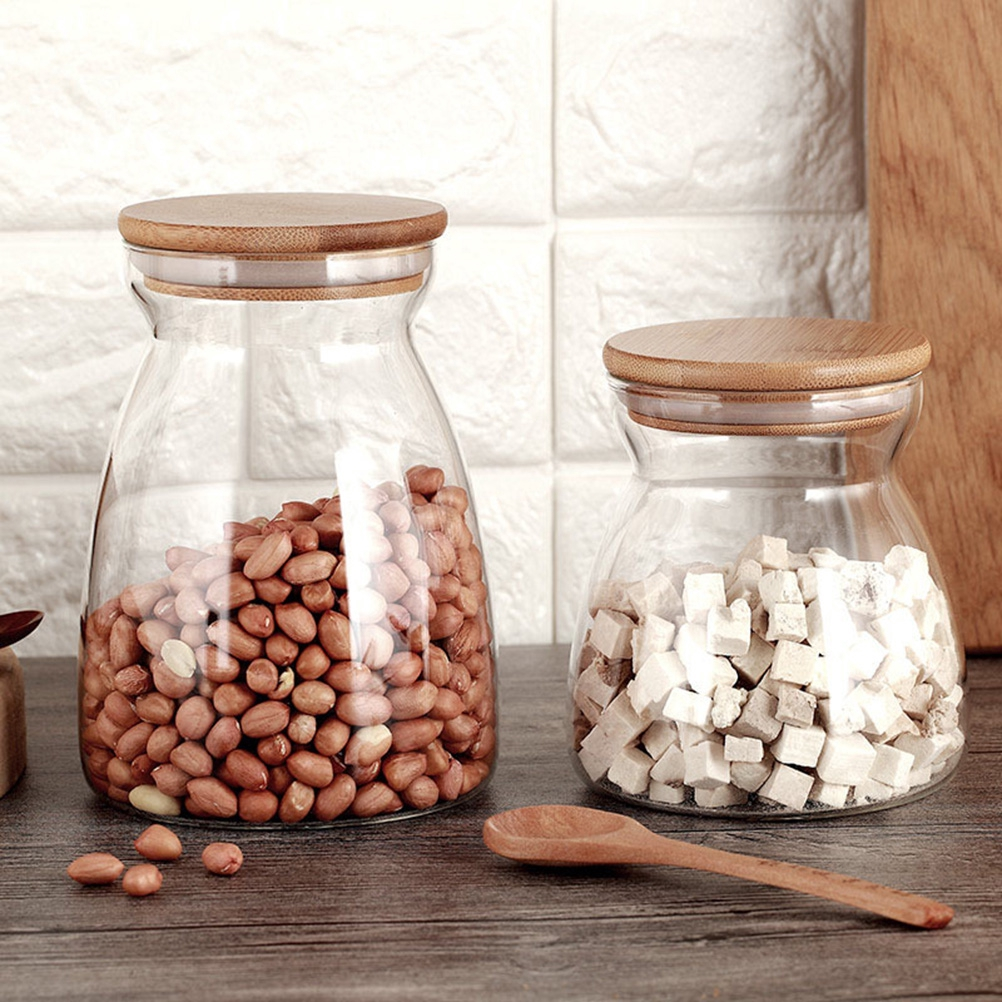 10 pcs Food Storage Can Transparent Sealed Plastic Storage Jar with Lid for Nuts