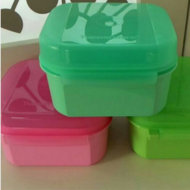 Tupperware mini treats Keeper Lunch Box x 1pc only (Random color sent)
