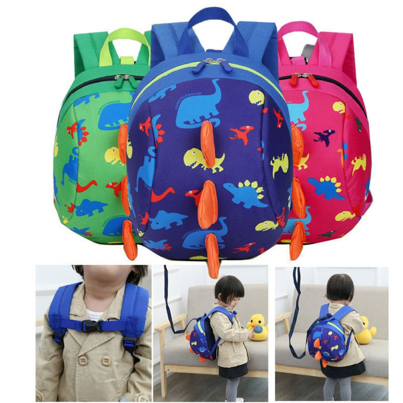 b3972370d59 MG-Kids Baby Safety Harness Backpack Leash Toddler Anti-lost Dinosaur Bag