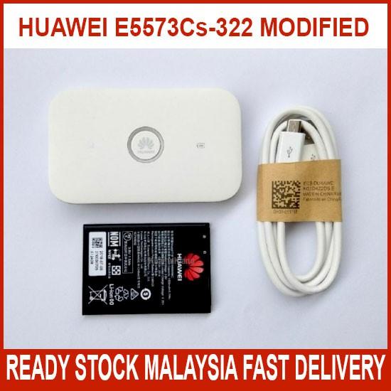 MODIFIED HUAWEI E5573 E5573CS-322 4G LTE UNLIMITED WIFI HOTSPOT TETHERING