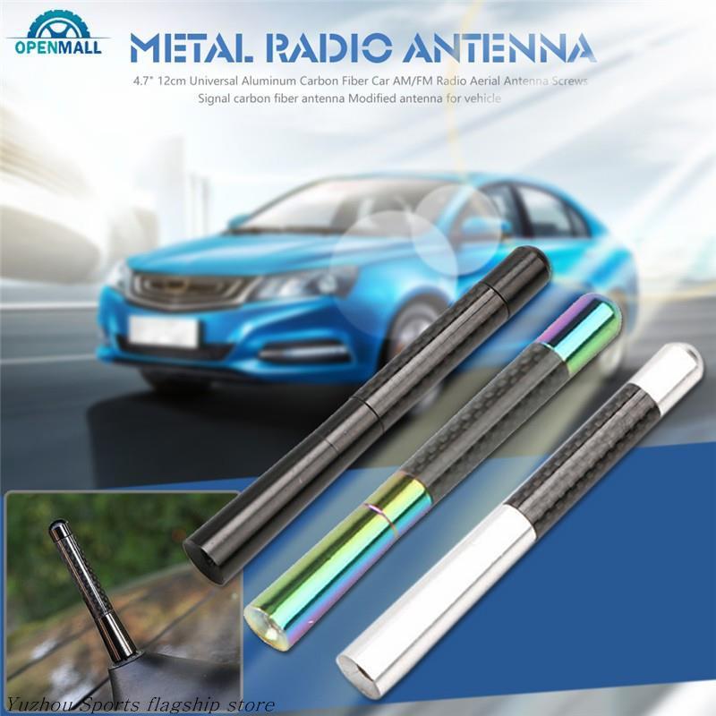 """Useful 4.7/"""" Auto Aluminum Alloy Carbon Fiber FM AM Radio Car Aerial Antenna New"""