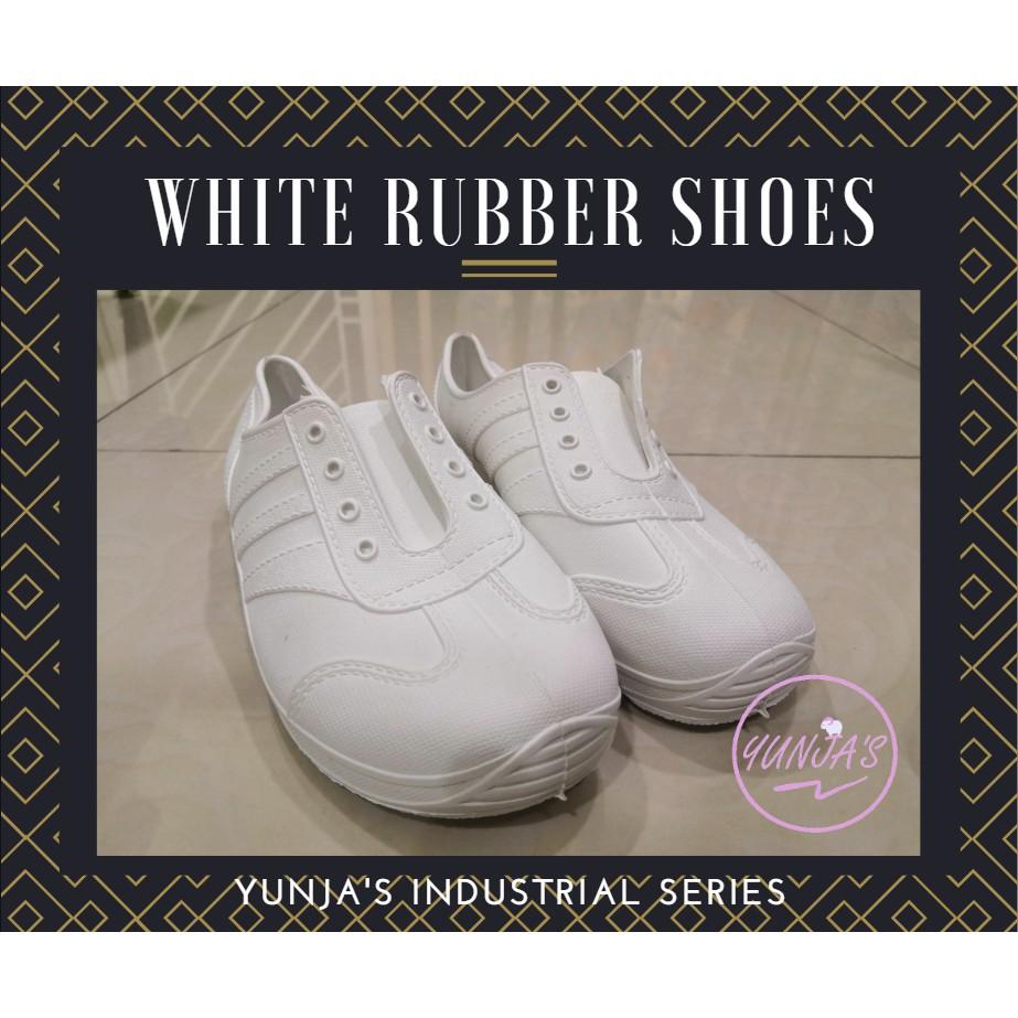 ADIMAX White Rubber Shoes Kasut Getah Putih Ta Thong Local Made Buatan Malaysia Industrial TT-702
