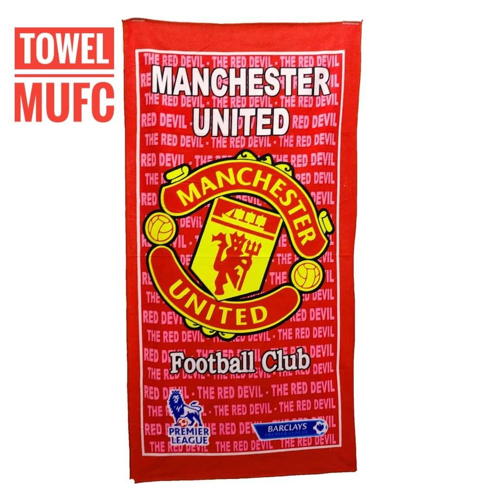 *TOWEL MUFC *Tuala Manchester United Tuala Mandi Serap Air 1 pcs Tuala Bola 140cm x 70cm Man United Man Utd MU