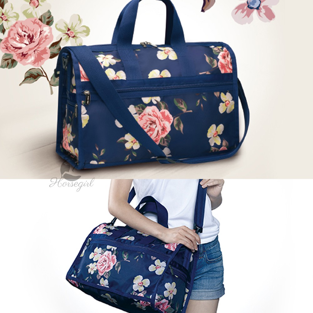 Portable Luggage Duffel Bag Cat Pattern Travel Bags Carry-on In Trolley Handle