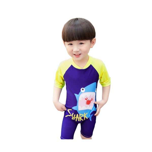 ชุดว่ายน้ำเด็ก บอดี้สูท ลายไดโนเสาร์ ลายปลาฉลาม มีไซส์ให้เลือก
