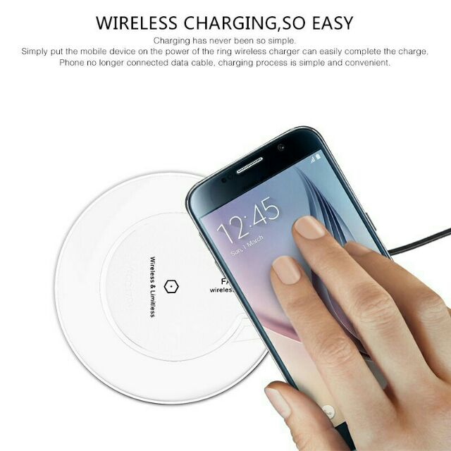Baseus 10w Fast Charger Simple Wireless Charger Aluminium Alloy