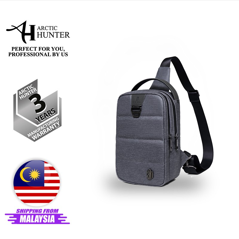 Arctic Hunter i-Shady Sling Bag Travel Chest Bag Crossbody Bag Light Weight iPad Compartment Water Resistant Fashion Bag