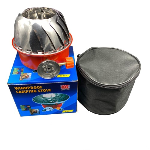 WINDPROOF PORTABLE BUTANE GAS CAMPING HIKING STOVE