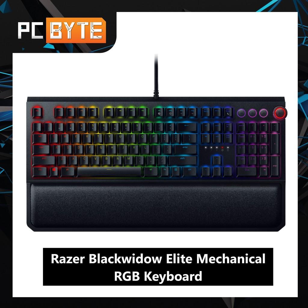 Razer Blackwidow Elite Gaming Keyboard (Yellow/ Green/ Orange Switch)