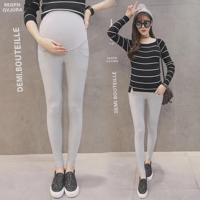 [M~3XL]Maternity wear Candy Colour Long pants孕妇长裤夏装孕妇装托腹小脚裤铅笔糖果色纯色孕妇打底长裤女