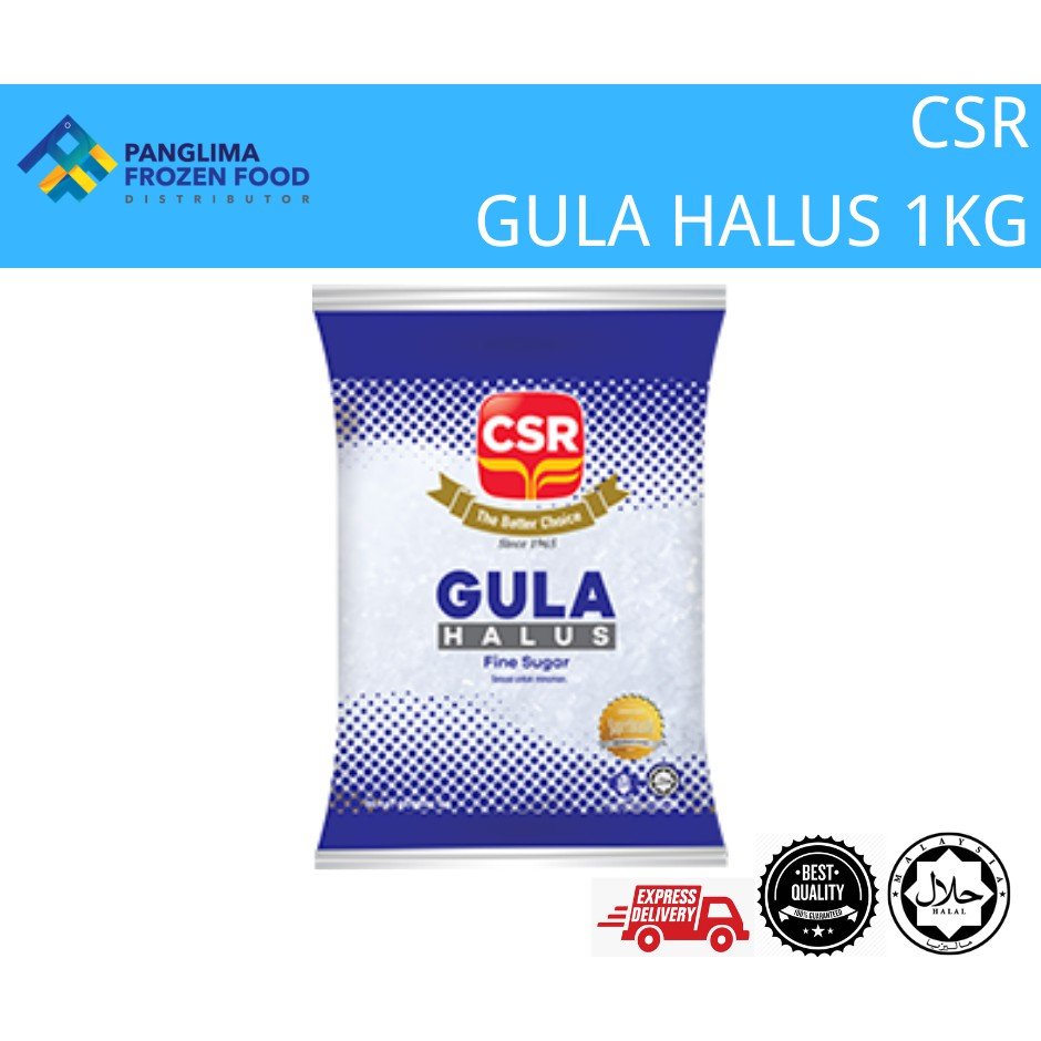 CSR GULA HALUS/FINE SUGAR 1KG [KLANG VALLEY ONLY]