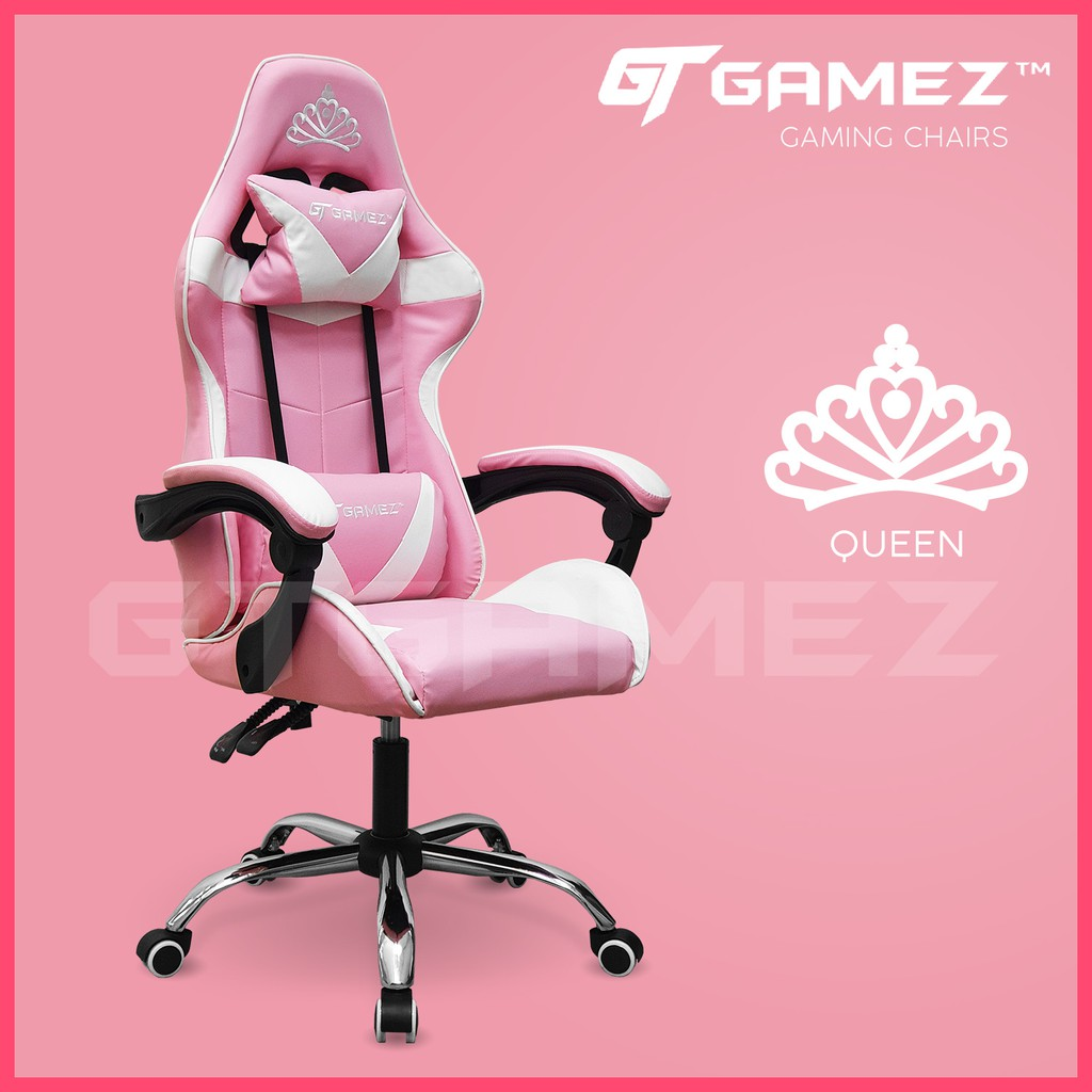 Picture of: Gtgamez Gaming Chair Racing Chair With Ergonomic Backrest And Height Adjustment Pillows Recliner Swivel Gmz Gc Yg 721 Shopee Malaysia