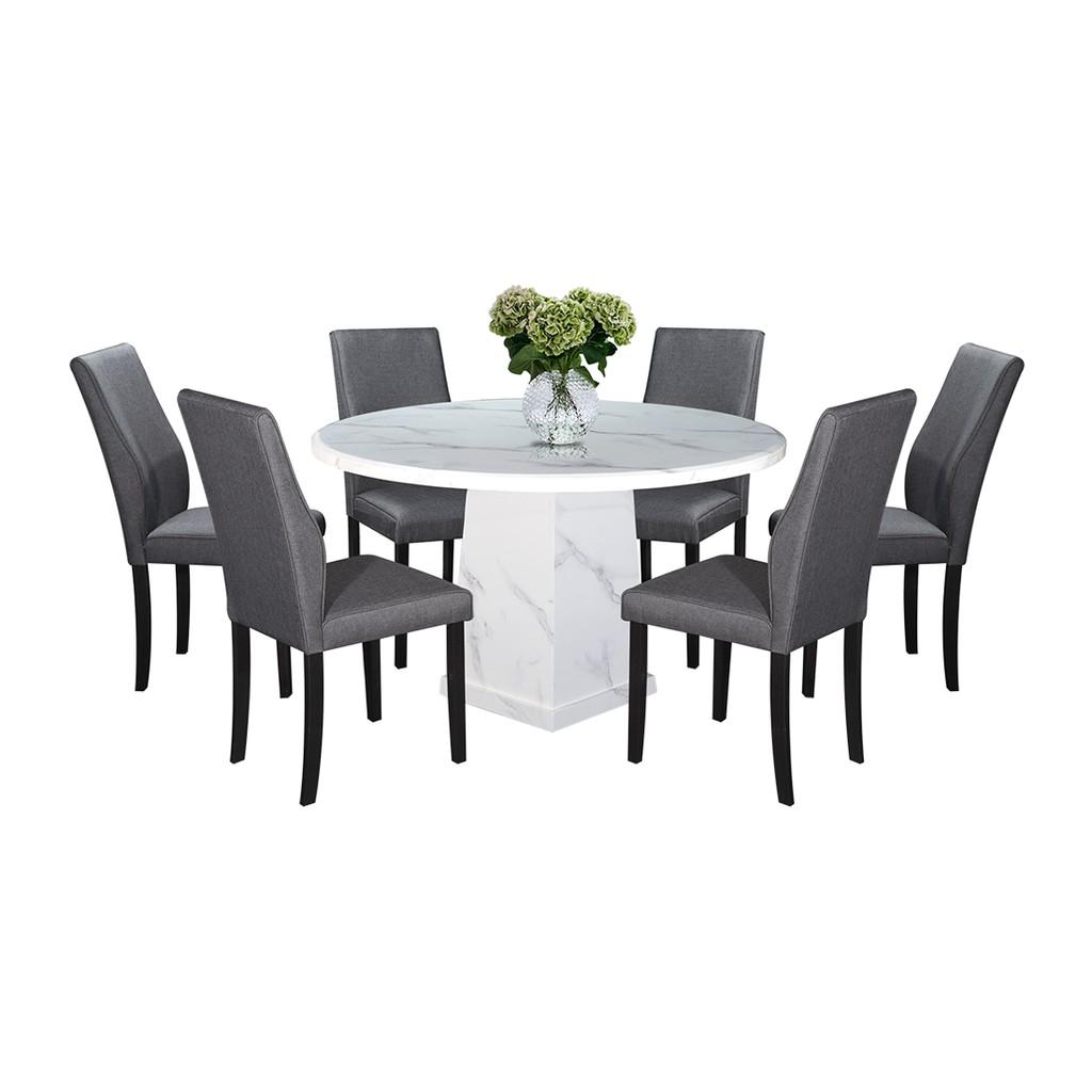 Nl Mtt010 9404 3 Luxury Design Round Marble Dining Table 1 6 Shopee Malaysia