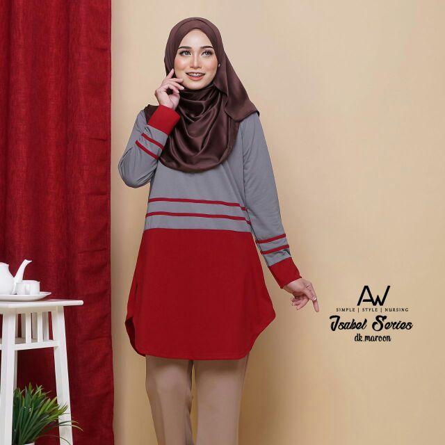 Isabel series nursing muslimah blouse awanaz style  35860547fd