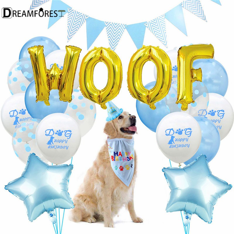 Df 23pcs Dog Birthday Party Decorations