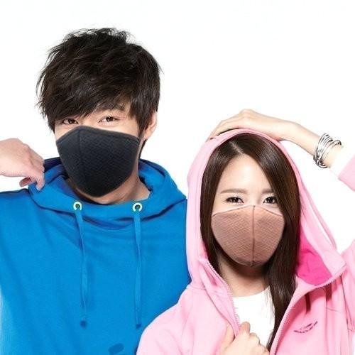 af7922e057905 Women Men Warm Anti-Dust Solid Active Carbon Mouth Mask Cover ...