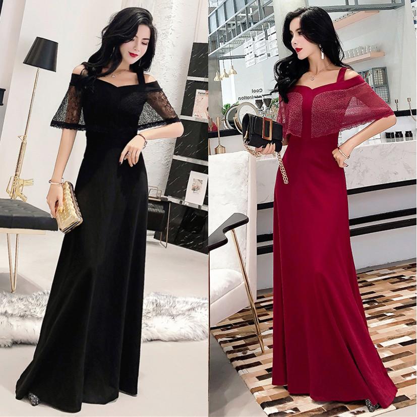 fed7cd2cdd Women Off Shoulder Maxi Lace Dress Wedding Evening Party Dresses