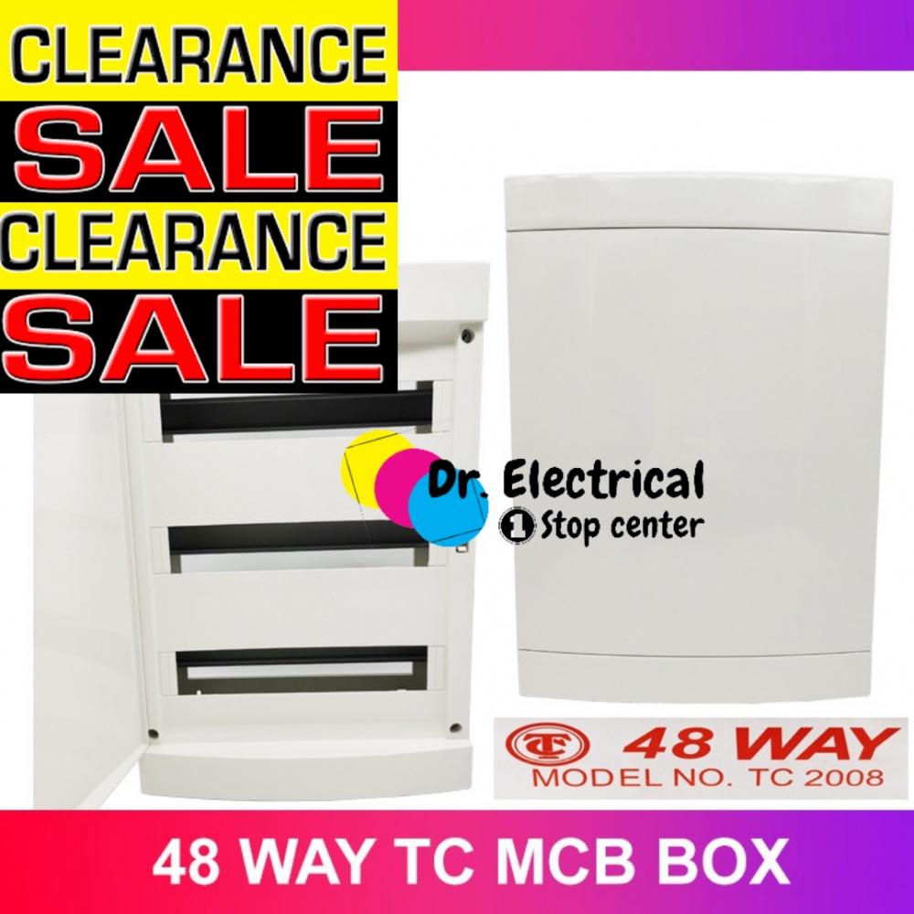 TC MCB DB BOX 6 ways to 48 Way PVC MCB Box  PVC