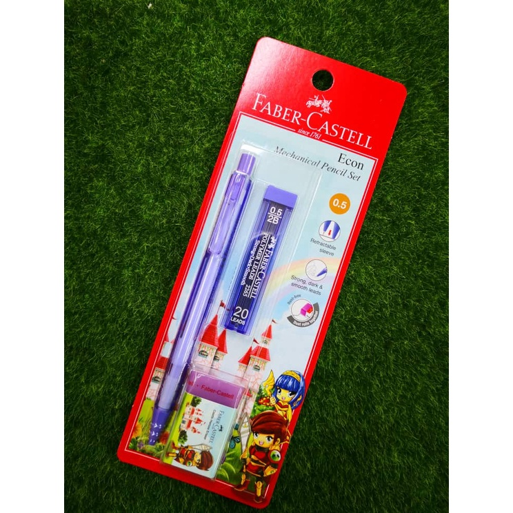 FABER-CASTELL Econ Mechanical Pencil Set 0.5mm 134209 (With Eraser & Pencil Lead)