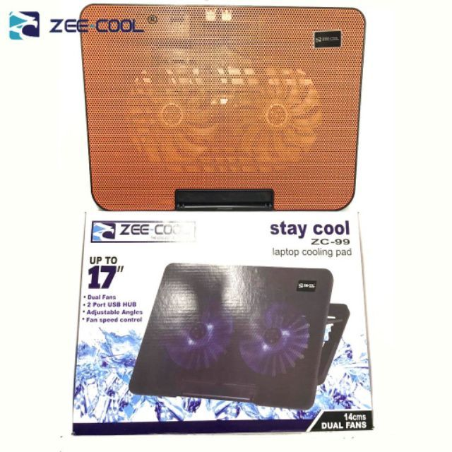 OFFICIAL Zee-Cool ZC-99 Dual fan adjustable cooling pad support up to 17