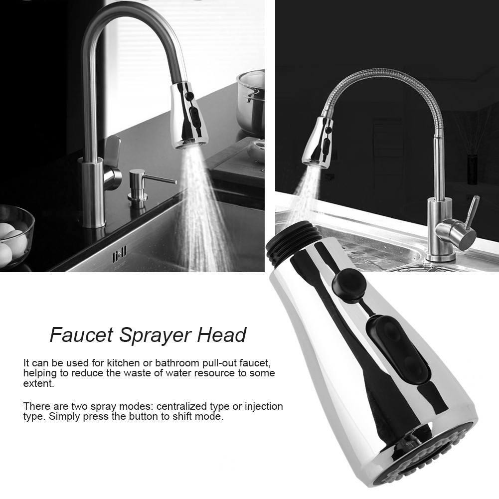 Dual Function Spring Kitchen Faucet Pull Out Sink Water Mixer Tap ...