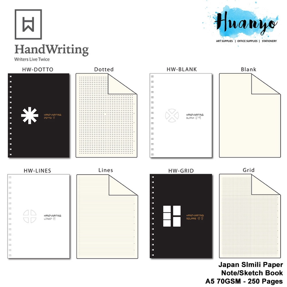 Handwriting Wire O Bullet Journal Sketch Note Book With 70gsm Japan Papers A5 250 Pages Dotted Square Grid Blank Line Shopee Malaysia