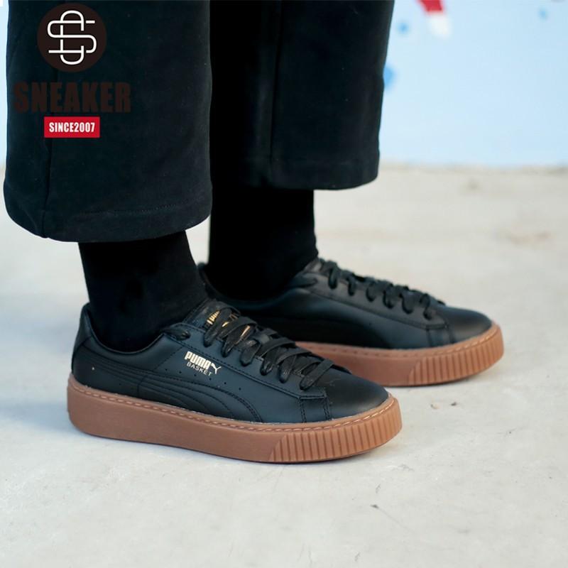 c950d67f00 *Lbjames* Puma Original Suede Platform Gold Women'S Casual Sneakers Shoes  364040-02-03 Comfortable Running Shoes