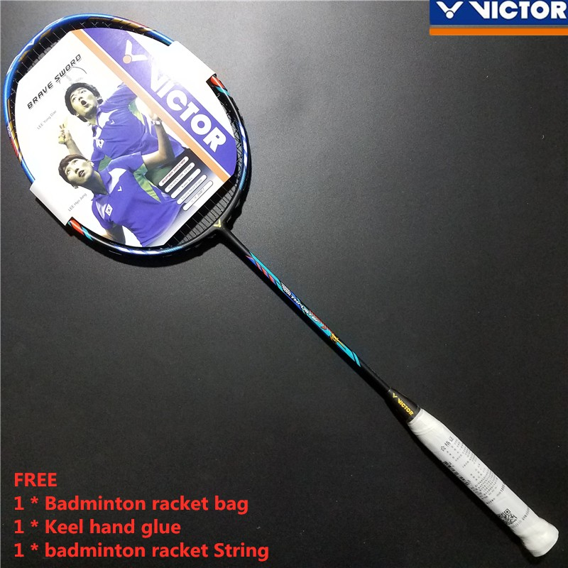Original Victor Badminton Racket THRUSTER F Full Carbon Single Raket  badminton