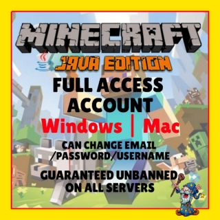 Minecraft Java Edition Full Access Acc + Free Code Minecraft Windows
