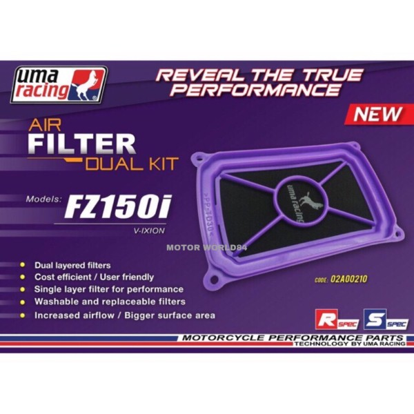 AIR FILTER UMA RACING FZ150 NEW { 2014 - 2019 }