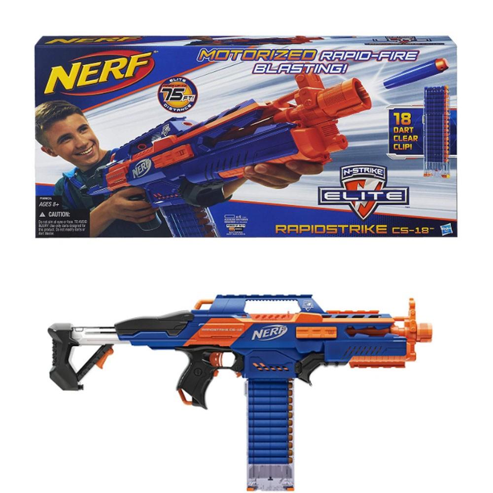 Nerf N Strike Elite Rapidstrike Cs 18 Blaster Shopee Malaysia