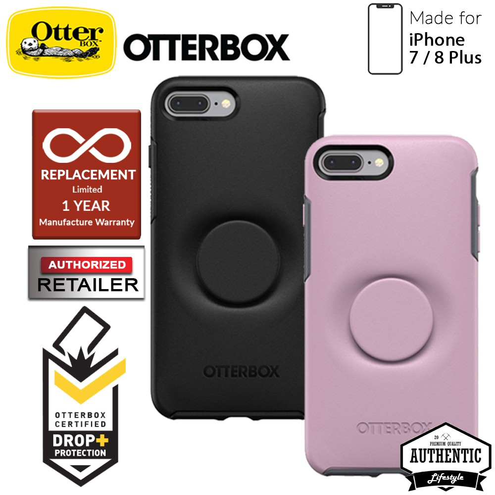 buy online 9271f 3eb45 OTTER + POP Symmetry for iPhone 7 Plus / 8 Plus - Slim Protective Case with  PopSockets