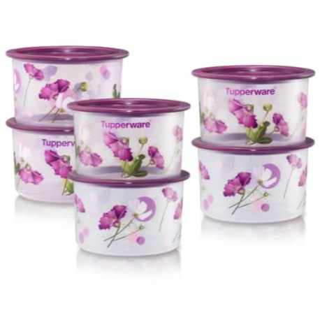 Tupperware Royale Bloom One Touch Topper Junior 600ml (6pcs)
