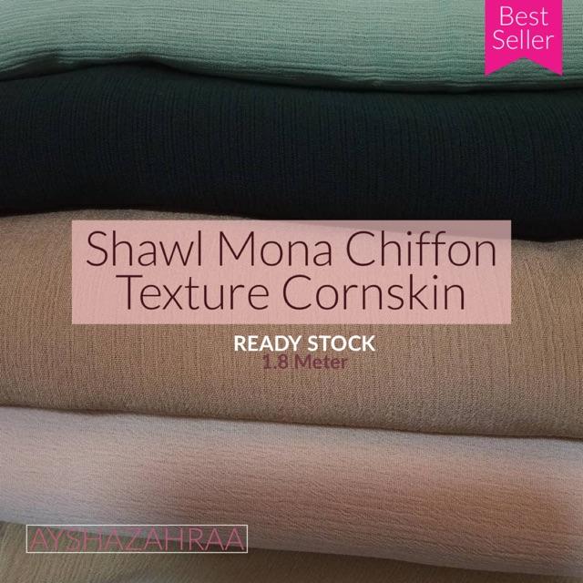 Shawl Mona Chiffon Cornskin