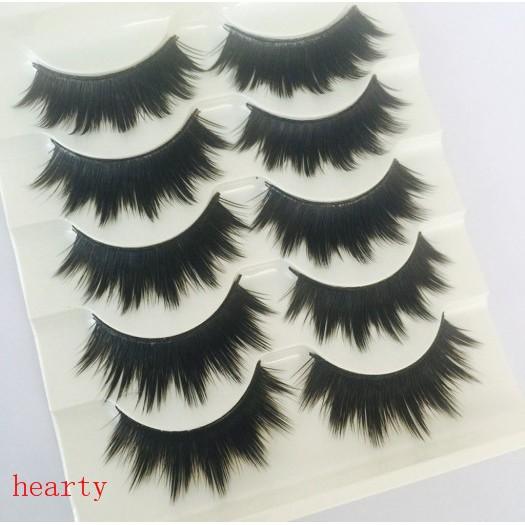e1bc94af99f ProductImage. ProductImage. 5 Pairs Thicker Longer Fake Eye Lashes Black False  Eyelashes Cross Natural