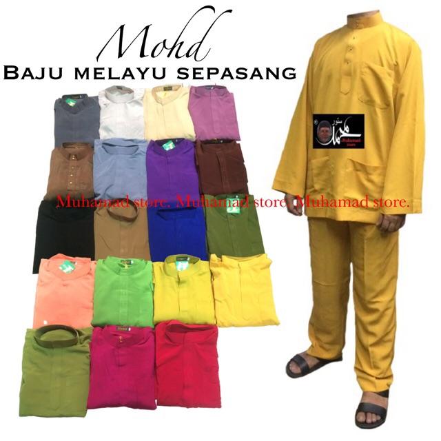 Part 2 Muhamad Store Jutawan Baju Melayu Sepasang Saiz S, M, L & XL (Warna Pilihan) P2JBMSWP S-XL A13