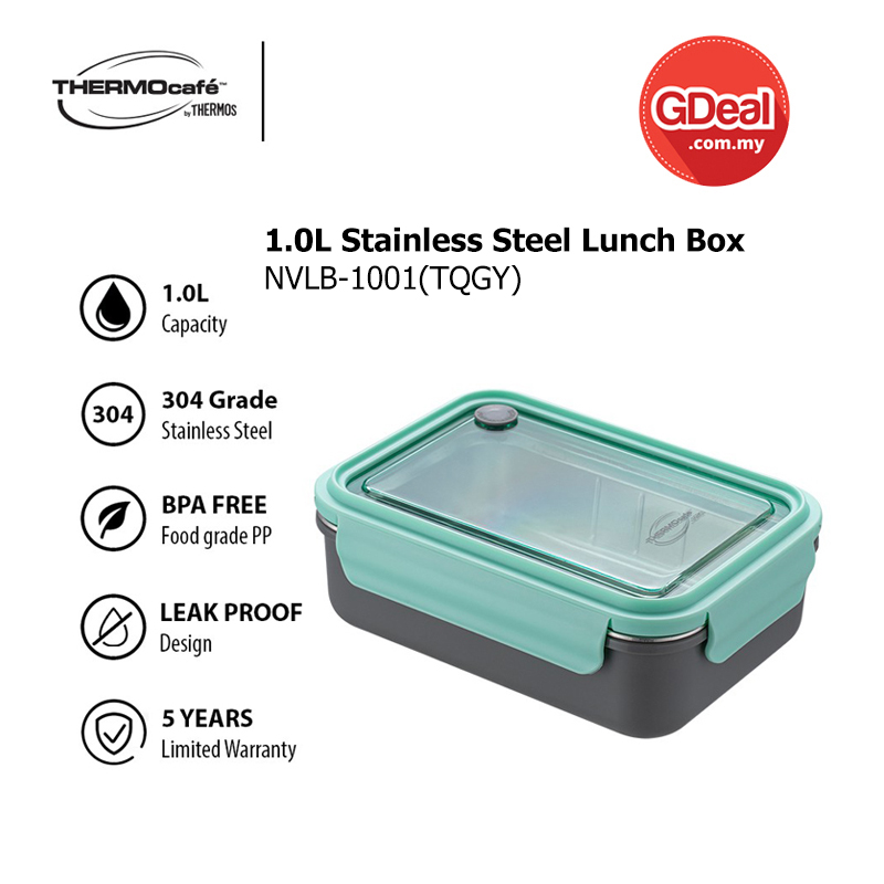 GDeal THERMOS 1.0L Thermocafe SS Lunch Box - NVLB-1001(TQGY)