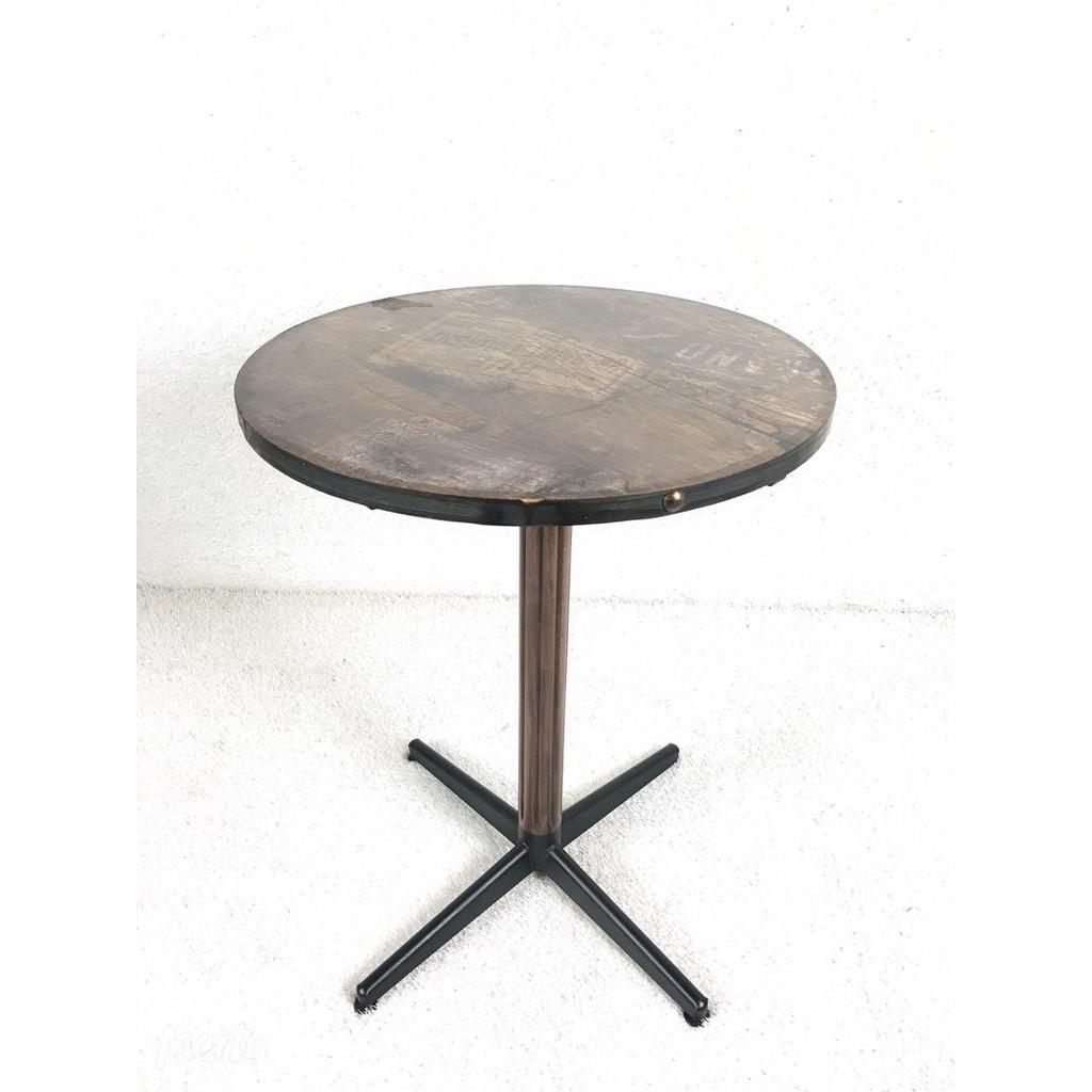 (READY STOCK) CAFE TABLE, MELAMINE TOP WITH METAL ROCKET LEG, CAFE FURNITURE, MEJA CAFE
