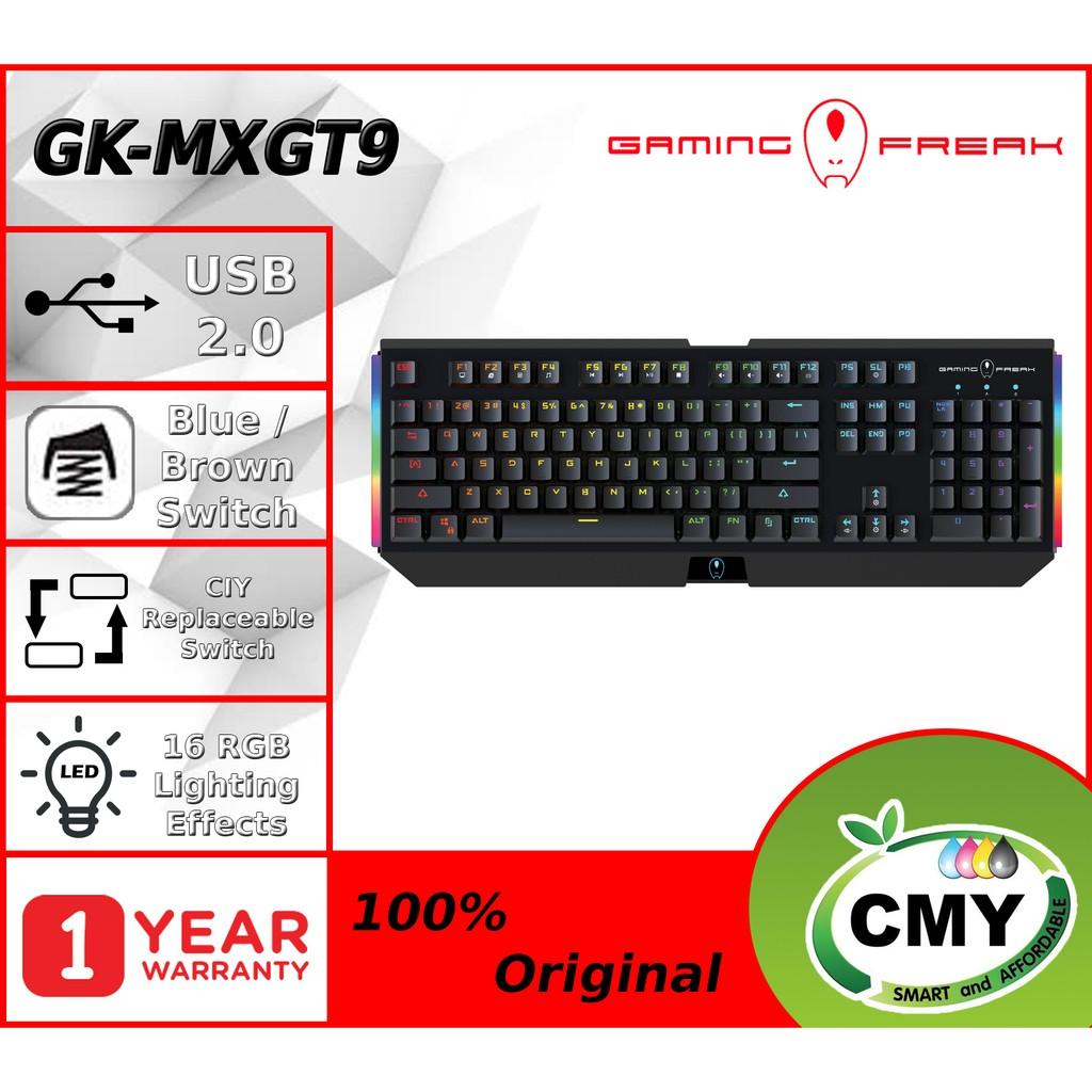 Gaming Freak MX-GT9 Gaming Mechanical Keyboard (Blue / Brown Switch) MXGT9 GK-MXGT9-BL GK-MXGT9-BR