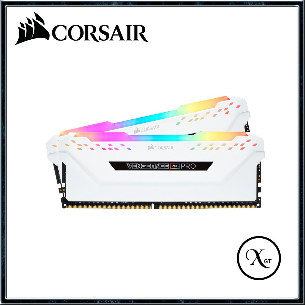 [XGT] CORSAIR Vengeance RGB PRO DDR4 3200Mhz 16GB (2 x 8GB) Kit C16 RAM  (WHITE)