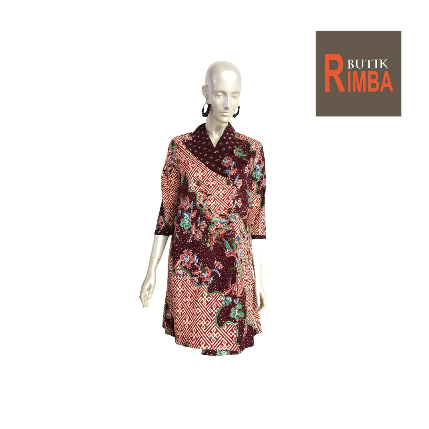 MODERN DRESS BATIK COTTON STRETCHABLE KNEE LENGTH FREE SIZE FOR FASHIONABLE WOMEN IN MIND 12