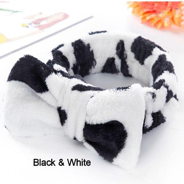 [ READY STOCK ]  Cute Knot Coral Fleece Soft Elastic Hairban Ribbon Bath Shower Makeup Wash Face Cosmetic Jualan Murah