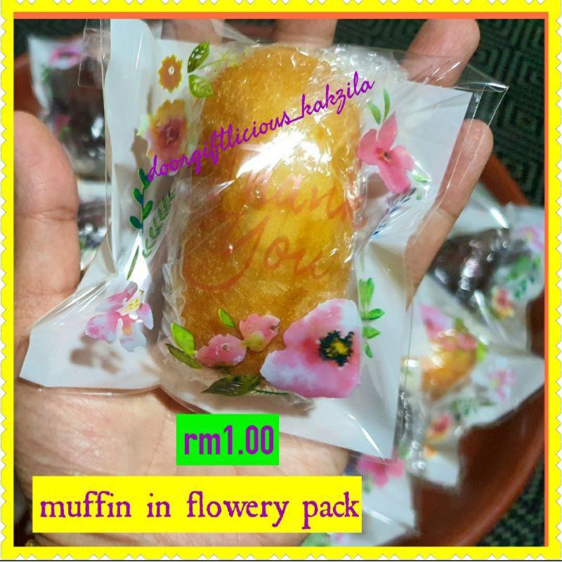 *doorgift MUFFIN flowery pack RM1*