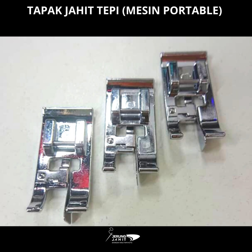 TAPAK JAHIT TEPI MESIN PORTABLE