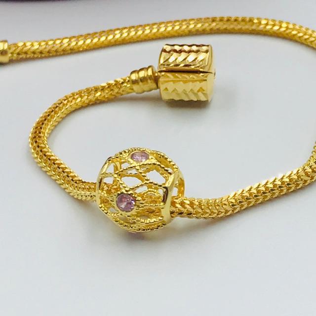 Masdora Emas Beads ~ Colourful Stones Beads (Emas 916)