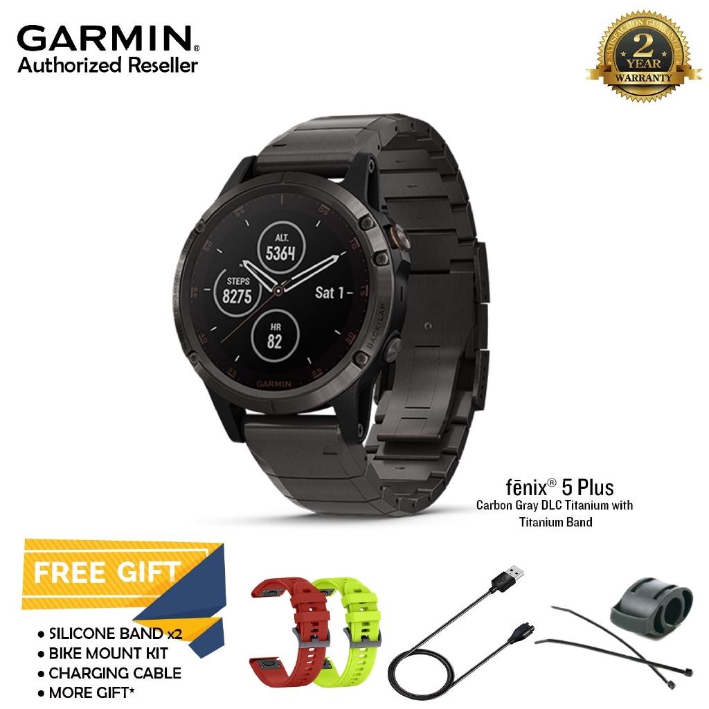 Garmin Fenix 5x Plus Gray Dlc Titanium Multisport Gps Watch With 5 Sapphire Slate Grey Maps Music Shopee Malaysia
