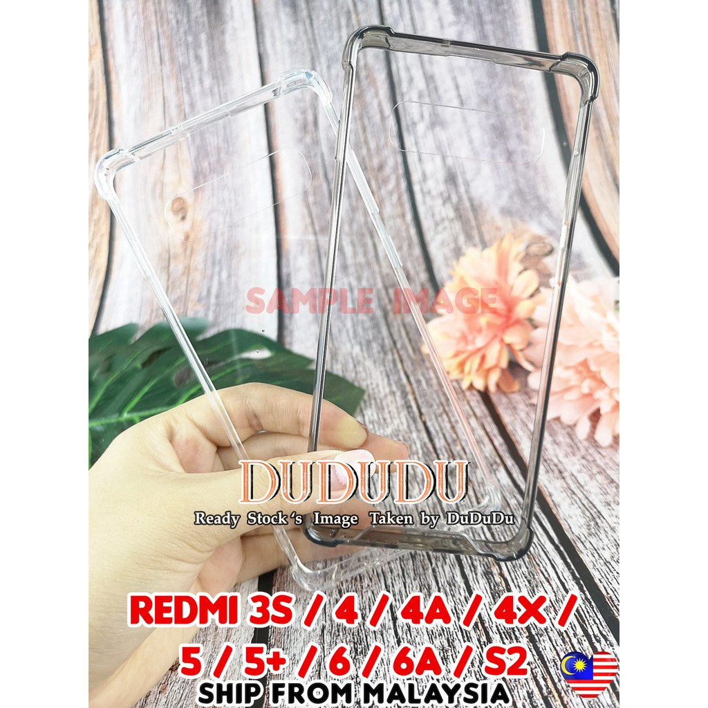 Redmi 3s/ 4/ 4 prime/ 4a/ 4x/ 5/ 5 plus/ 6/ 6A/S2 Clear Anti Shock Case