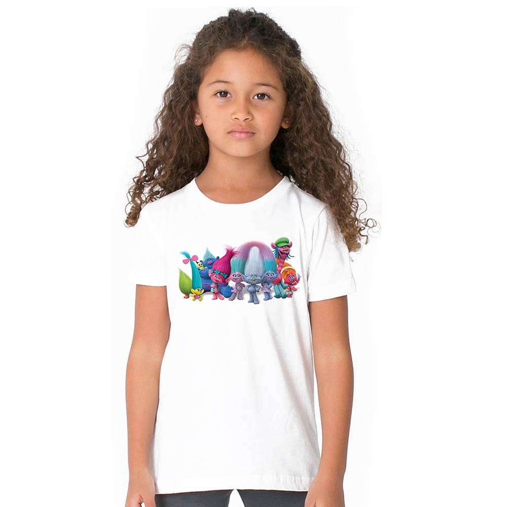 ff92e6bc6d35e Kids Baby Girl Trolls T Shirt Children Toddler Girls Cartoon T-shirt Summer  Top
