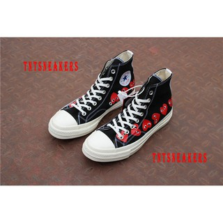 beautiful and charming great deals where to buy Original CDG Play X Converse Chuck Taylor Hi High Top Sneakers Shoes J8