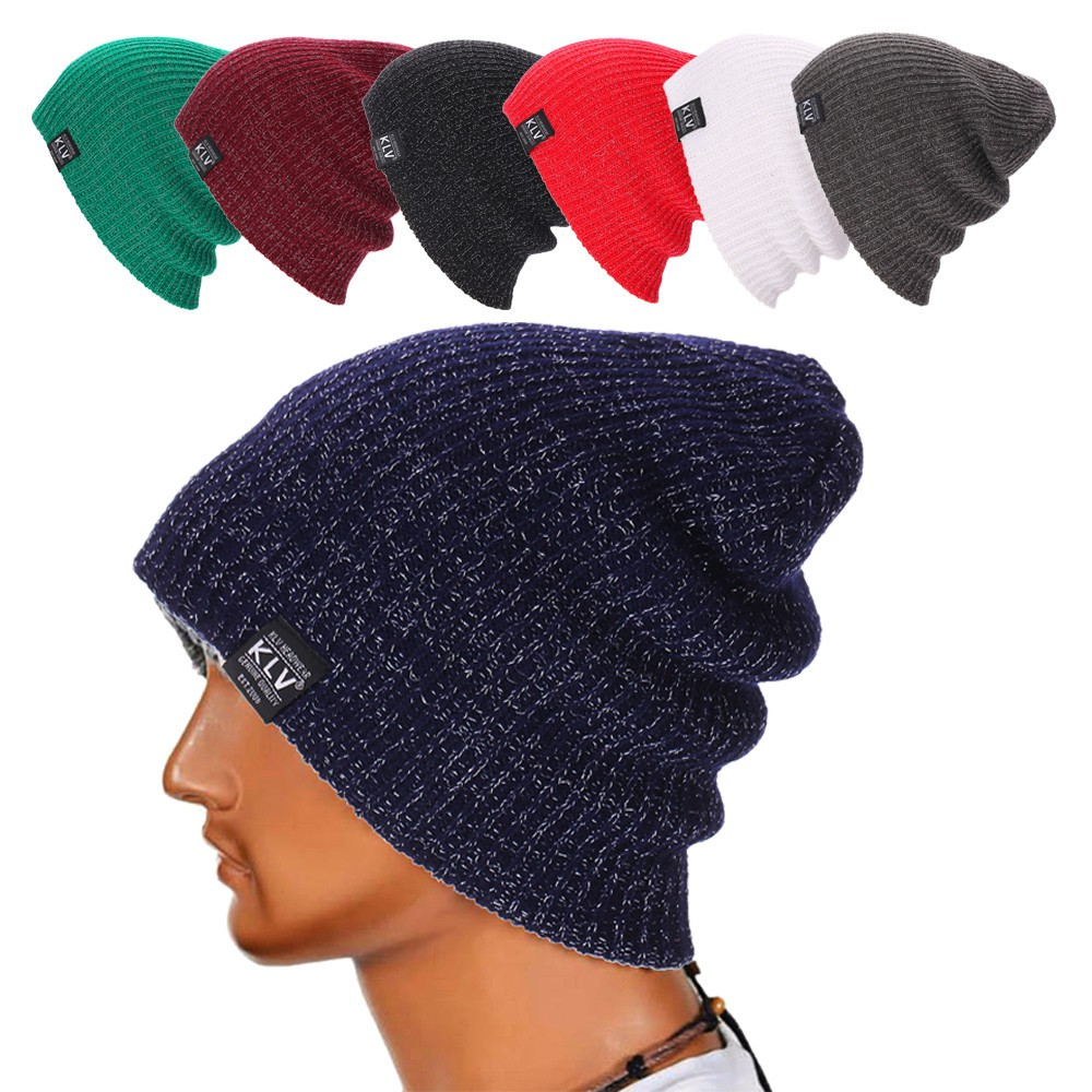 822c4be31d6f7b ProductImage. ProductImage. 👒👒Men Women Baggy Warm Crochet Winter Wool Knit  Ski Beanie Skull Slouchy Caps Hat